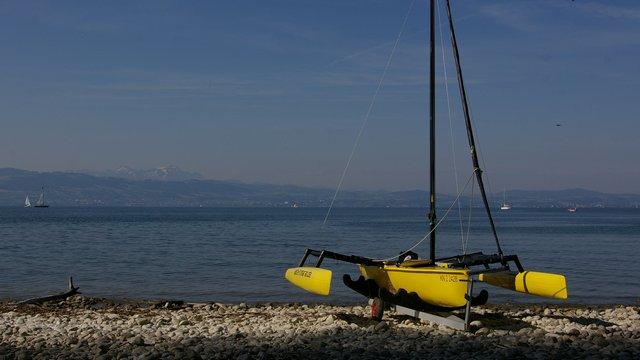 ULTRAMRIN Boatshow - Weta 4.4 bereit zum Testsegeln